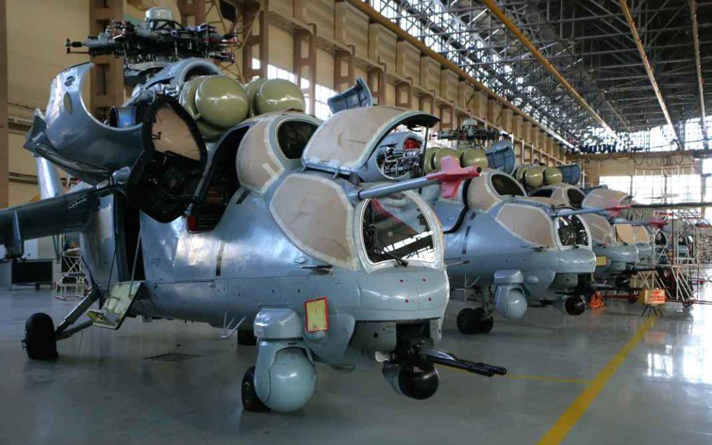 """Вертолёт Ми-35М в цехе окончательной сборки ПАО """"Роствертол"""""""