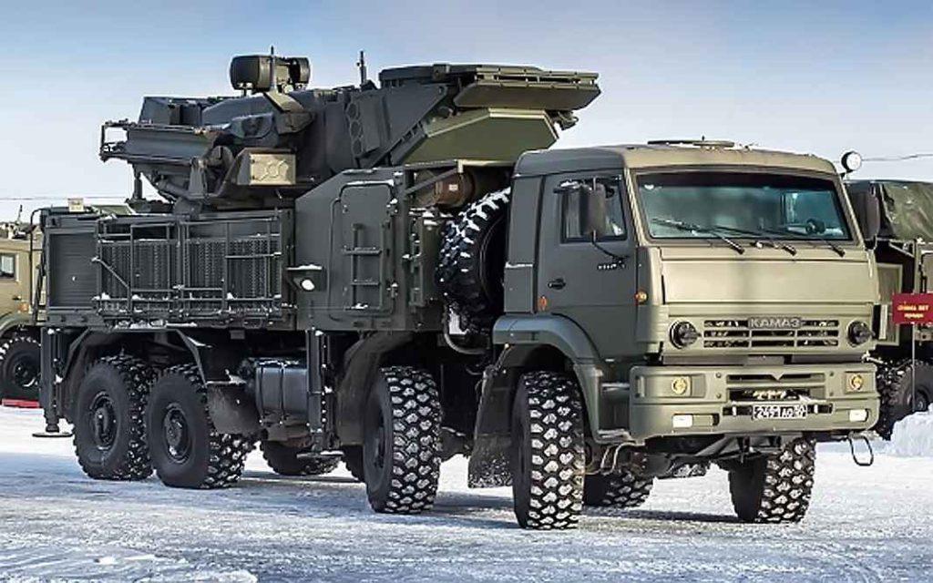 """Зенитный ракетно-пушечный комплекс """"Панцирь-С1"""" подразделений ПВО Балтийского флота"""