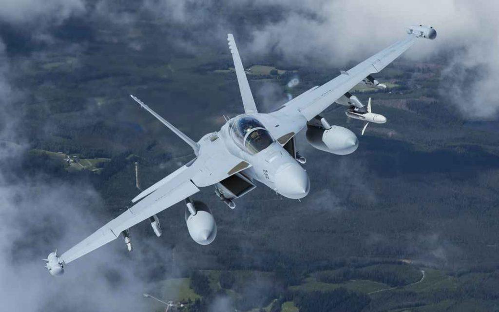 Палубный самолёт радиоэлектронной борьбы EA-18 Growler