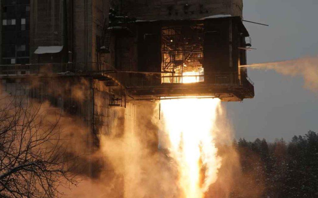 Огневые стендовые испытания ракетных двигателей серии РД-107
