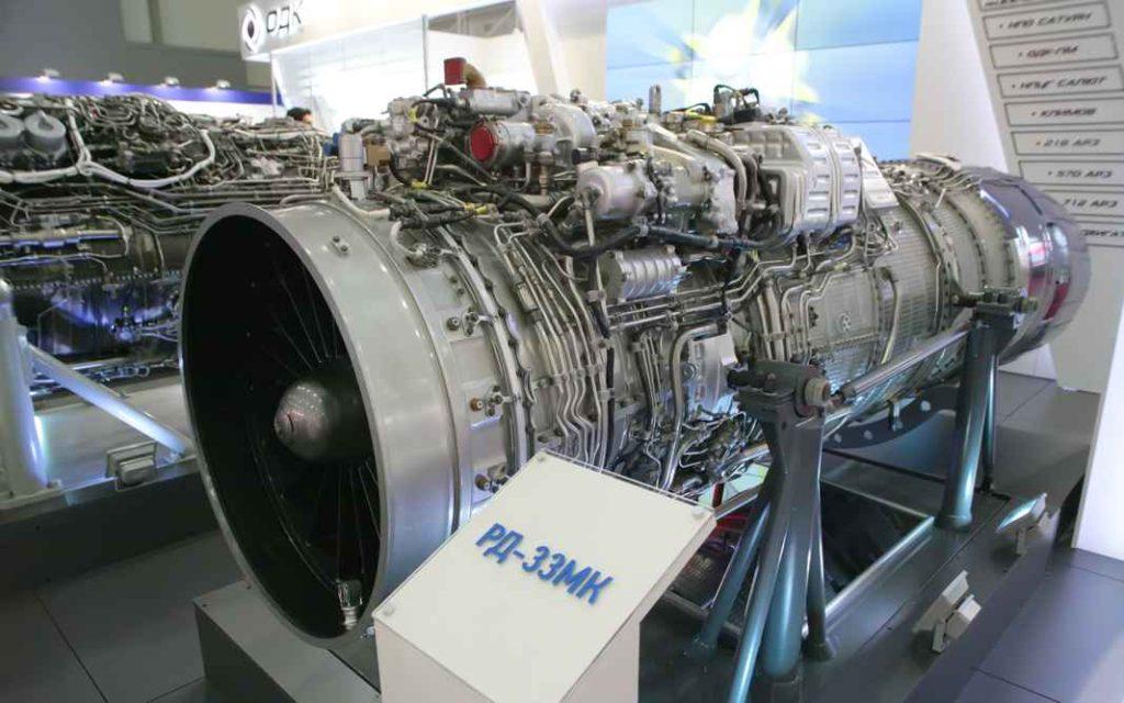 Модель авиационного турбореактивного двухконтурного двухвального двигателя с форсажной камерой (ТРДДФ) РД-33МК